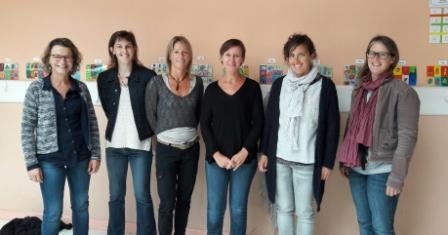 de gauche à droite :valérie OOLIVIER, Blandine BALLOUARD, Anita MOISAN, Christelle LANDAIS, Stépahenie CARRIOU, Marion JEANNE